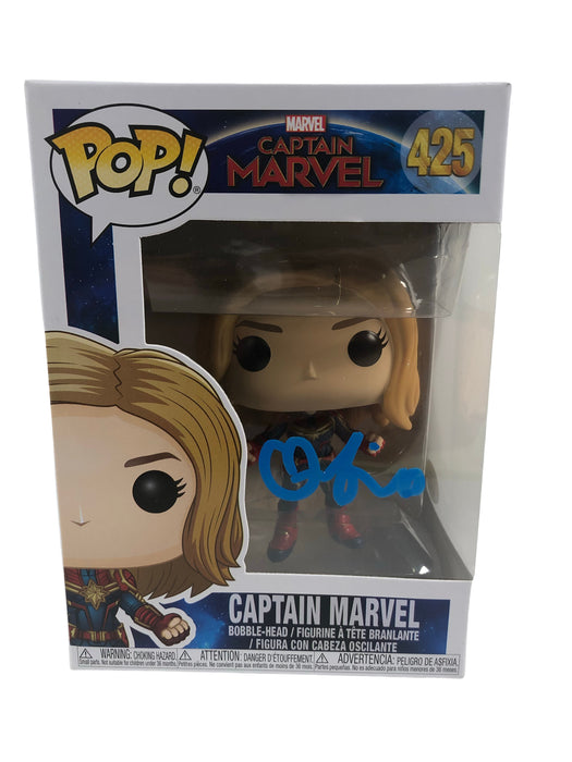 Brie Larson Autograph Funko POP Captain Marvel #425 Signed JSA COA