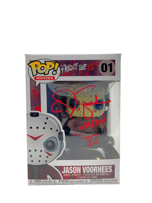 C J Graham Autograph Funko POP Friday the 13th Jason Voorhees Signed JSA COA