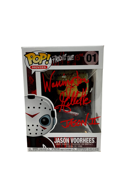 "Warrington Gillette Autograph Funko POP Friday the 13th Jason Voorhees ""Jason II"" JSA COA"