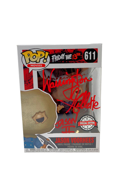Warrington Gillette Autograph Funko POP Friday the 13th Jason Voorhees Signed JSA COA 2