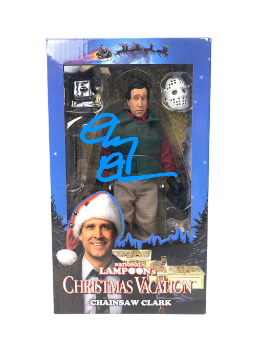Chevy Chase Autograph National Lampoon's Christmas Vacation Neca Figure Signed BAS COA