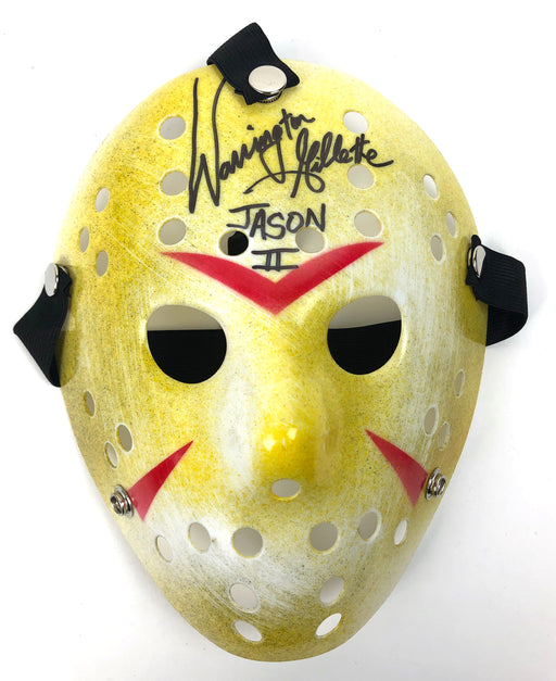 Warrington Gillette Signed Mask Friday the 13th Jason Voorhees Autograph JSA COA - Yellow