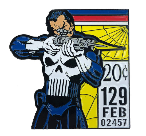 "Zobie Box - Limited Edition 2"" Enamel Lapel Pin - Punisher - Comic Book Variant"