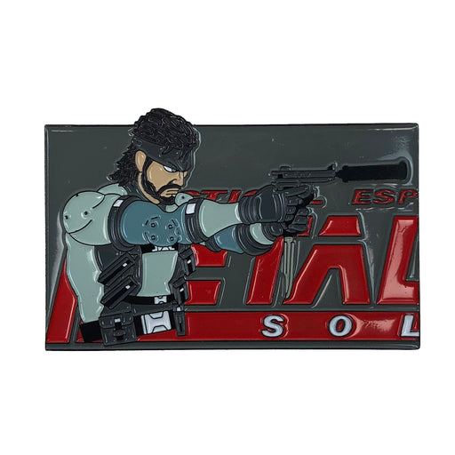 "Zobie Gamer - Limited Edition 2"" Enamel Lapel Pin - Metal Gear Solid - Solid Snake"