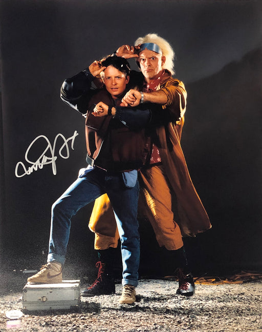 Michael J. Fox Autograph 16x20 Photo Back to the Future Marty Signed JSA COA 6