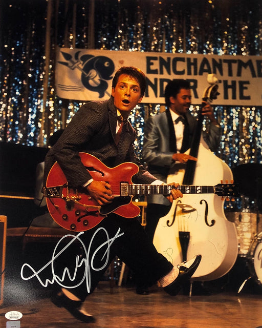 Michael J. Fox Autograph 16x20 Photo Back to the Future Marty Signed JSA COA 7