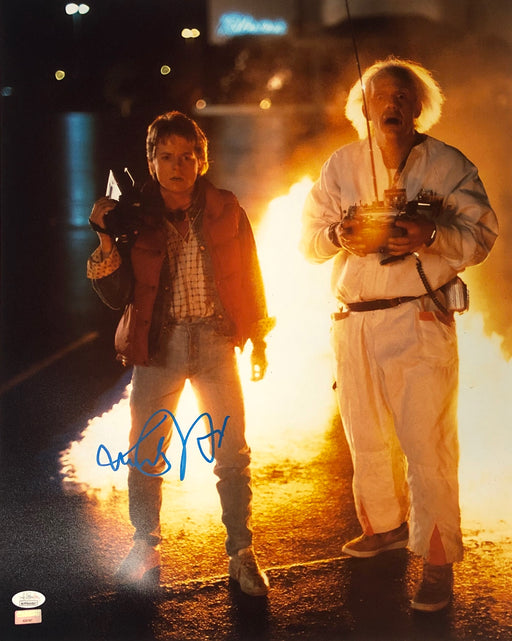 Michael J. Fox Autograph 16x20 Photo Back to the Future Marty Signed JSA COA 8