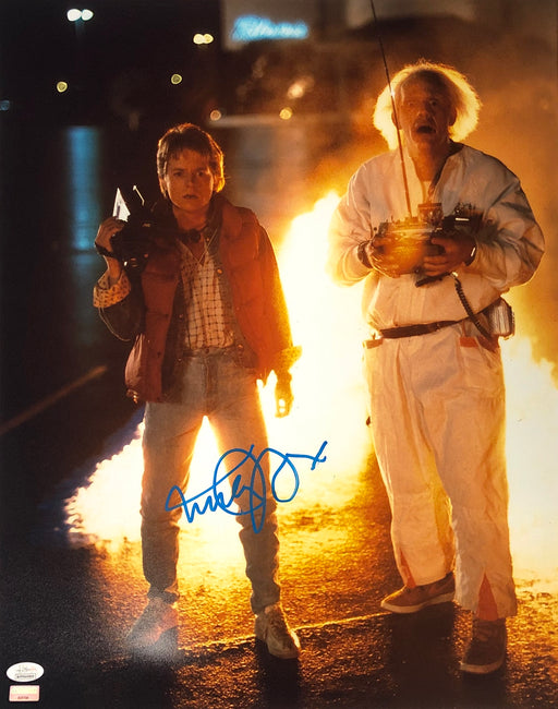 Michael J. Fox Autograph 16x20 Photo Back to the Future Marty Signed JSA COA 9