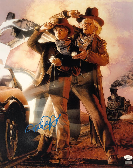 Michael J. Fox Autograph 16x20 Photo Back to the Future Marty Signed JSA COA 12