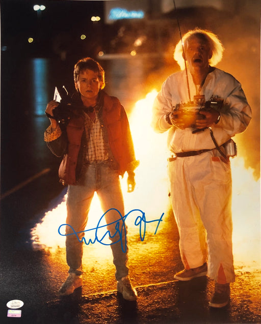 Michael J. Fox Autograph 16x20 Photo Back to the Future Marty Signed JSA COA 11