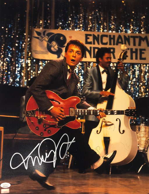 Michael J. Fox Autograph 16x20 Photo Back to the Future Marty Signed JSA COA 13