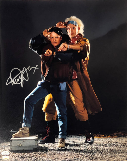 Michael J. Fox Autograph 16x20 Photo Back to the Future Marty Signed JSA COA 14