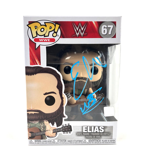Elias Autograph FUNKO POP WWE Figure WALK WITH ELIAS JSA COA E1