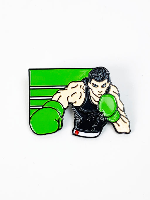 Zobie Gamer Punch Out Little Mac 2 Inch Lapel Pin