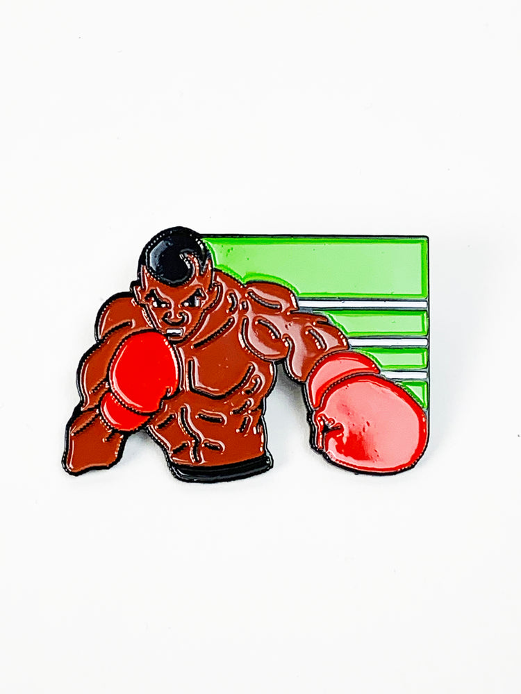 Zobie Gamer Punch Out Mike Tyson 2 Inch Lapel Pin