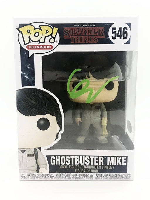Finn Wolfhard Autograph Funko Pop Stranger Things Ghostbuster Mike Signed JSA COA