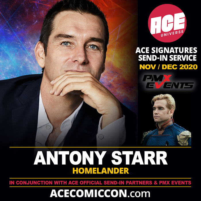 Antony Starr Official ACE Comic Con Signing Autograph Pre-Order