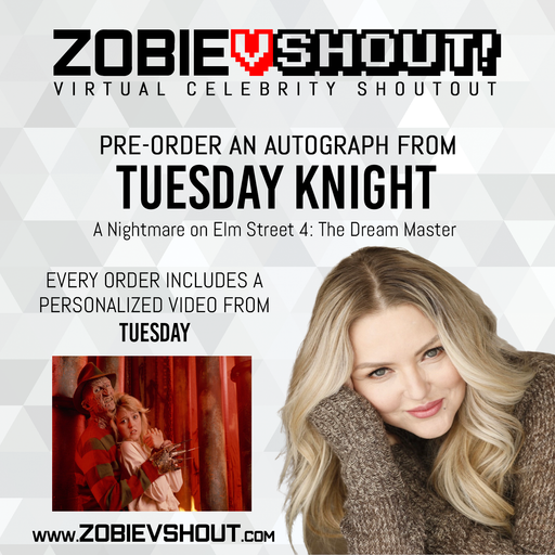 Tuesday Knight Official Zobie vSHOUT! Autograph Pre-Order