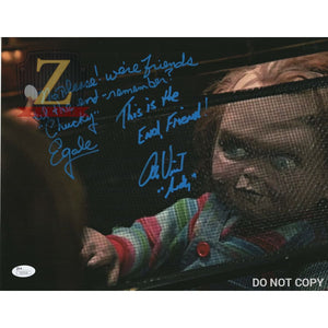 Alex Vincent & Ed Gale Childs Play Signed 11X14 Autograph Photo Chucky Rare