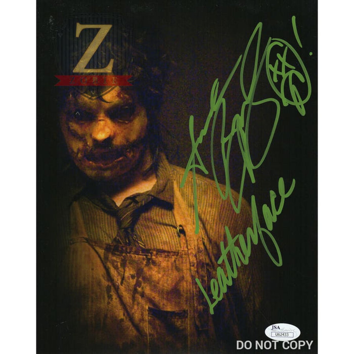 Andrew Bryniarski 8X10 Signed Photo Texas Chainsaw Massacre Leatherface Jsa Coa Ab7