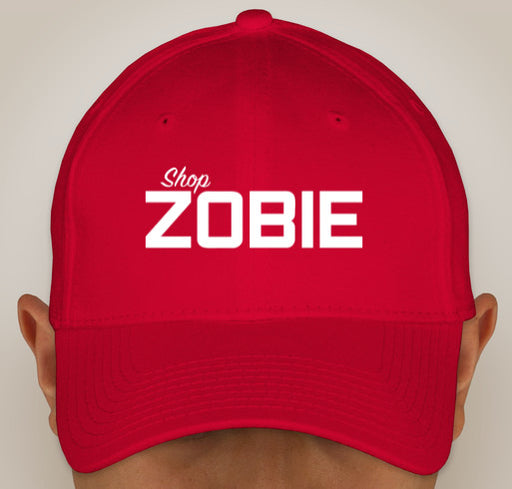 Zobie New Era Stretch Fit Cotton Cap in Red