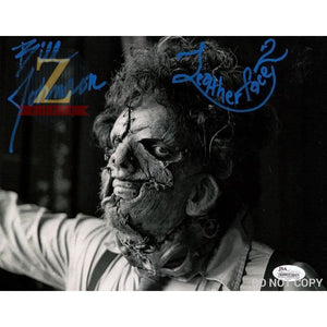 Bill Johnson Signed 8X10 Photo Leatherface 2 Autograph Jsa Coa Z1