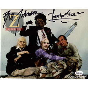 Bill Johnson Signed 8X10 Photo Leatherface 2 Autograph Jsa Coa Z5