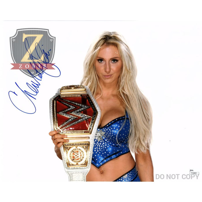Charlotte Flair Signed 11X14 Photo Wwe Wrestlemania Autograph Picture Jsa Coa 8