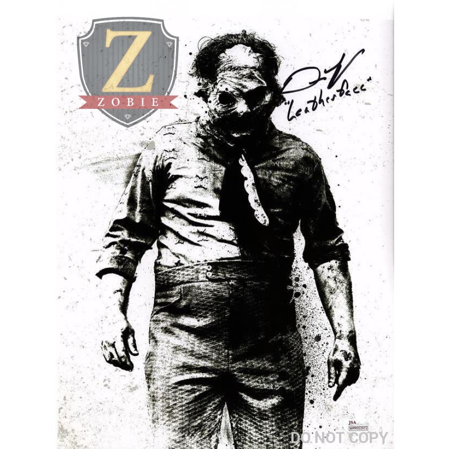 Dan Yeager Signed 11X14 Photo Leatherface 3D Jsa Coa Z1