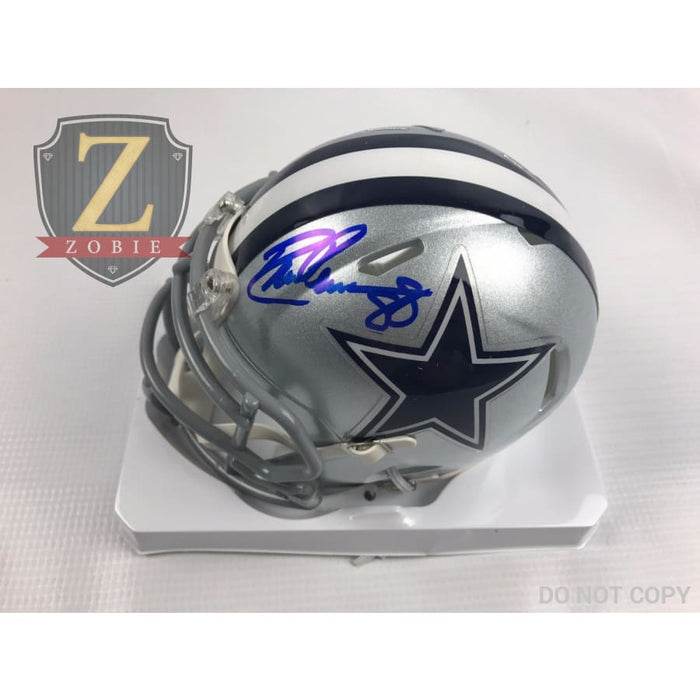 Drew Pearson Authentic Autograph Signed Dallas Cowboys Mini Speed Helmet Jsa Coa