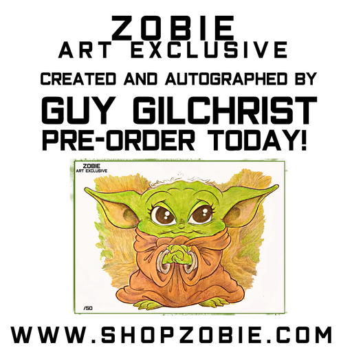 Zobie Exclusive - Star Wars Baby Yoda Fan Art Inspired 11x14 Print JSA COA