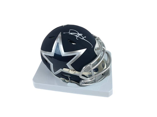 Deion Sanders Autograph Dallas Cowboys Mini Helmet Signed Beckett COA 1