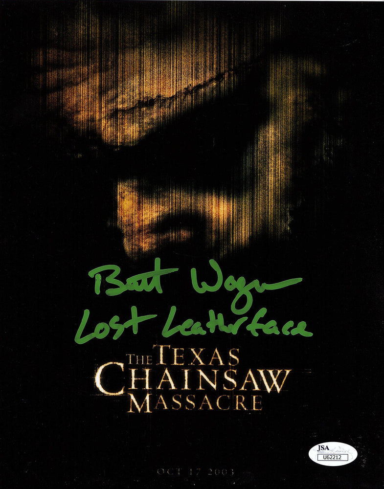 Brett Wagner Signed 8x10 Photo Autograph Texas Chainsaw Massacre Leatherface COA