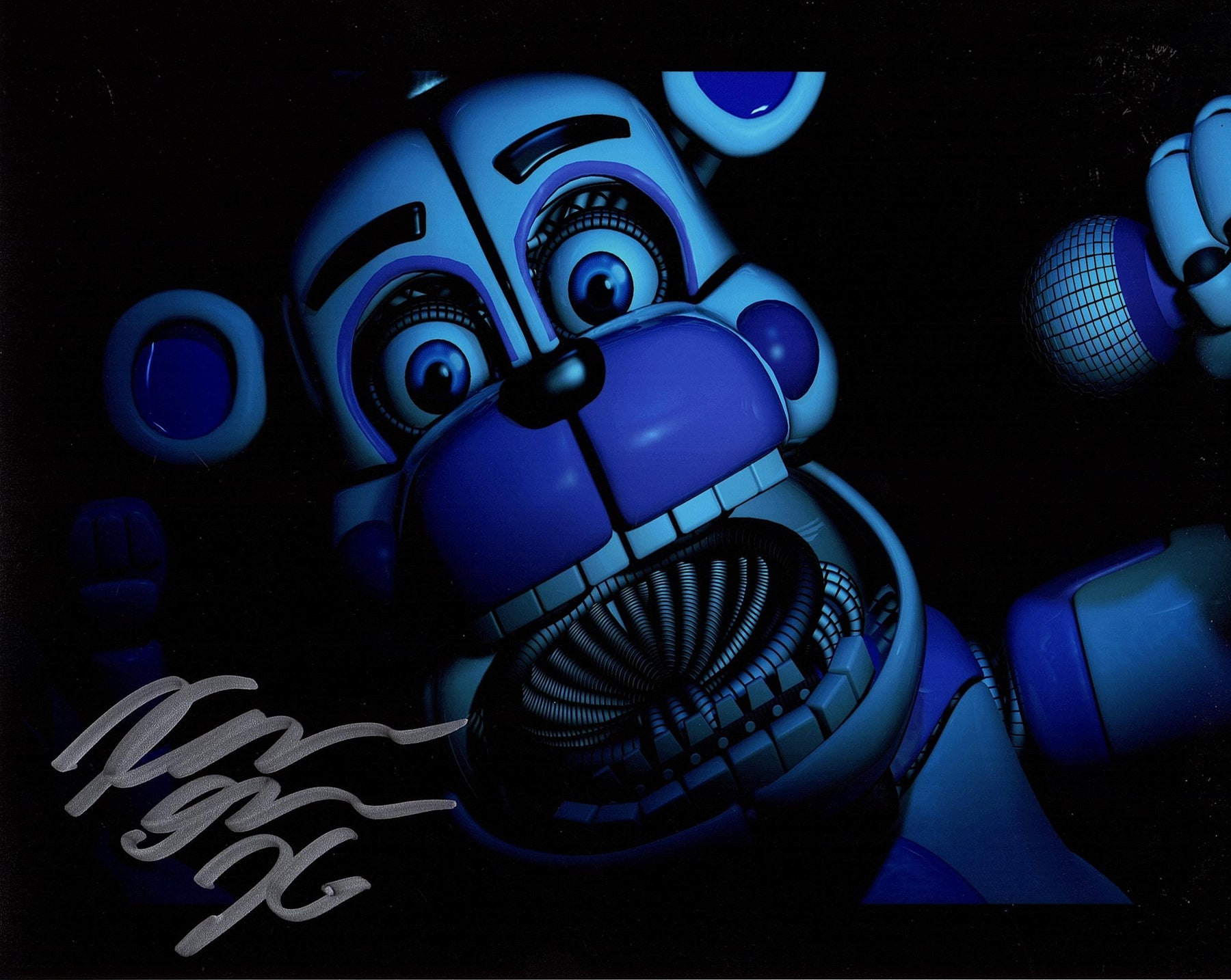 Kellen Goff Signed 8x10 Photo Five Nights at Funtime Freddy's COA Z1