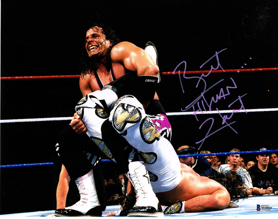 Bret Hart Signed 11x14 Photo WWE WWF Hitman Autograph Beckett COA Z8
