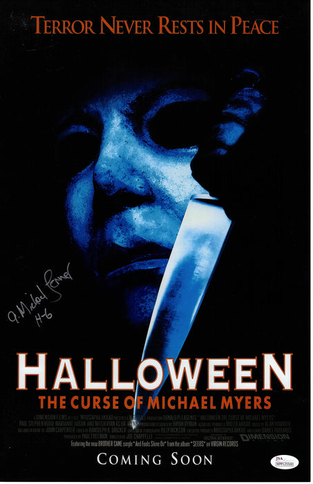A. Michael Lerner Signed 11x17 Photo Halloween Autograph JSA COA