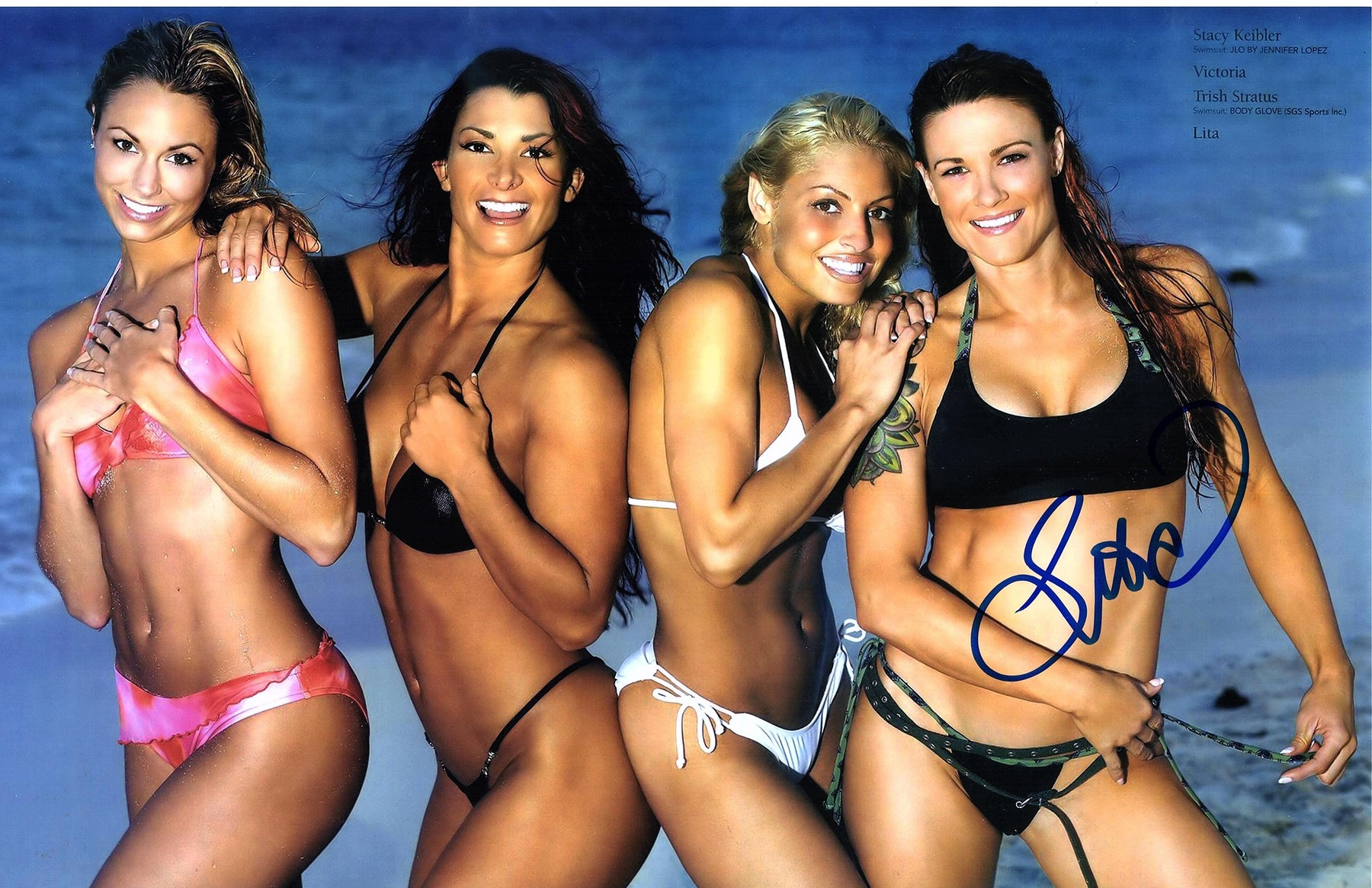 Lita Authentic Autograph 11x17 Photo WWE Picture Signed COA NXT RAW HOF 2