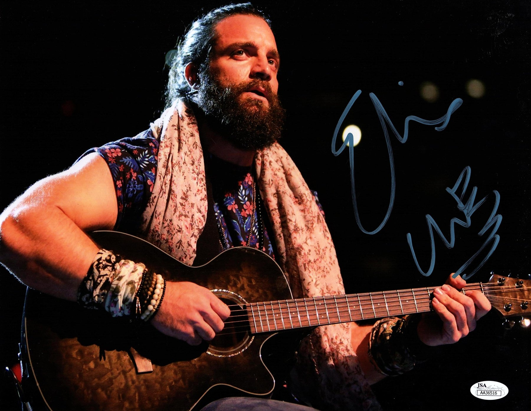 Elias Autograph 11X14 Photo Signed WWE Picture WALK WITH ELIAS JSA COA 4
