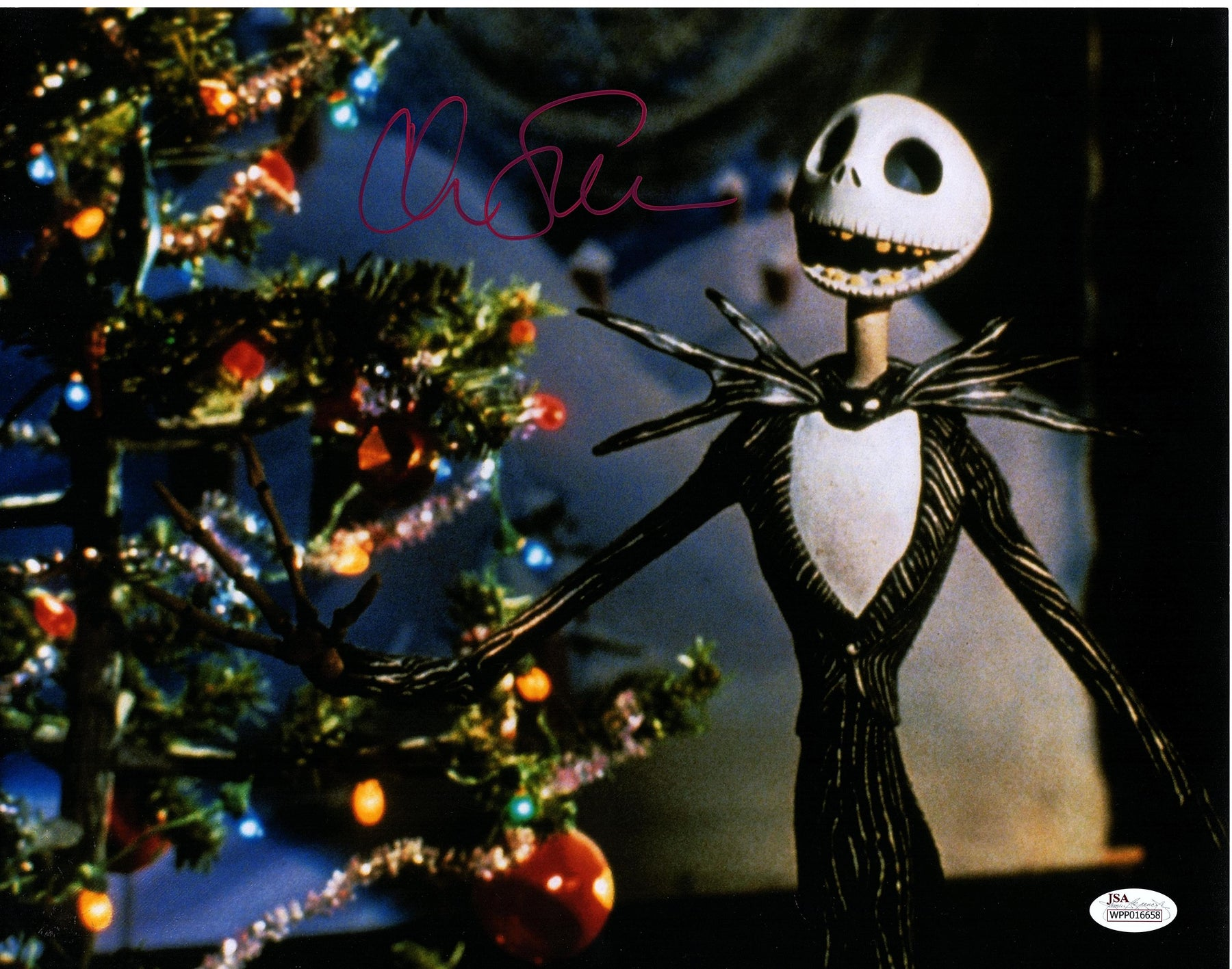 Chris Sarandon Signed 11x14 Photo Nightmare Before Christmas Jack JSA COA Z5
