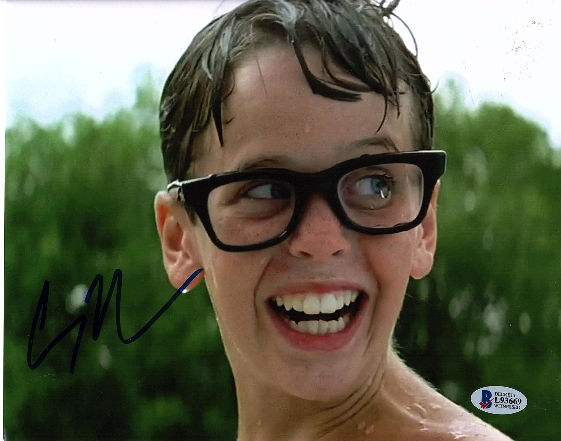 Chauncey Leopardi Signed 8x10 Photo Sandlot Squints Autograph Beckett COA Z2