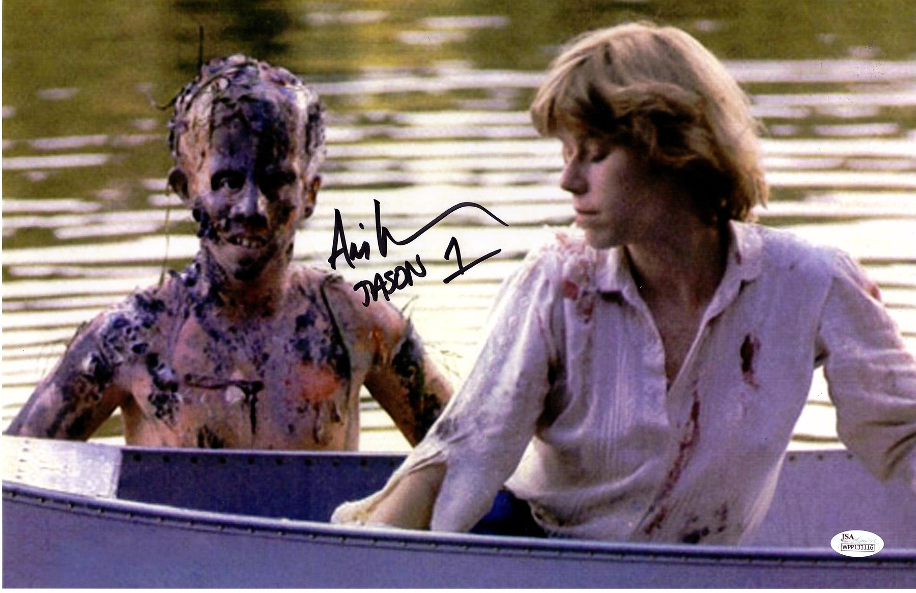 Ari Lehman Autograph 11x17 Photo Friday the 13th Signed Jason Voorhees JSA COA 10