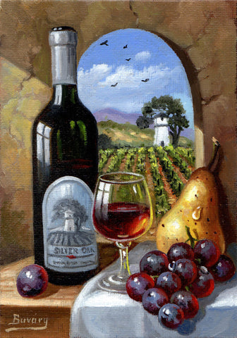 Napa Valley oil paintings by Imre Buvary