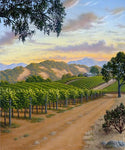Country Vineyard - canvas print