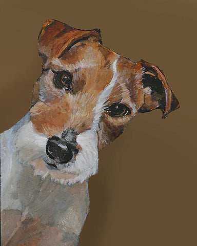 Jack Russell Terrier dog painting by renowned Napa Valley artist Gail Chandler