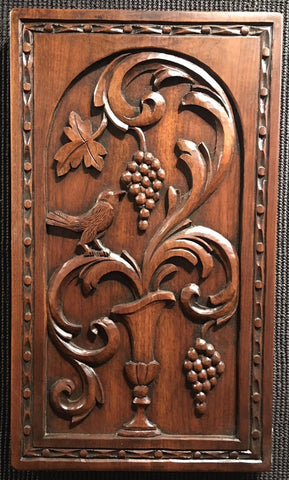 "Vin Bird 24x14"" woodcarving by master woodworker Wyckoff"