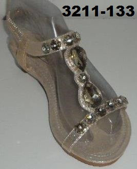 3211-133 GOLD OPEN TOE SANDALS WITH RHINESTONES