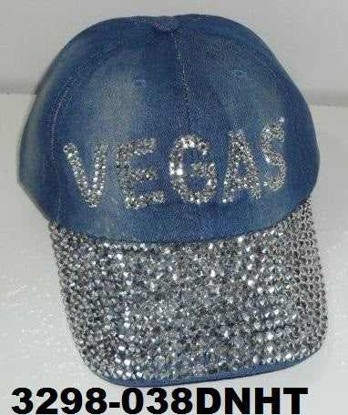 3298-038DNHT DENIM VEGAS BLING HAT