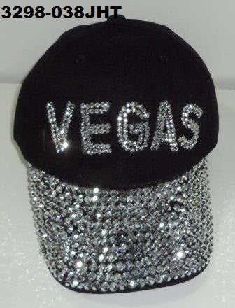 3298-038JHT BLACK VEGAS BLING HAT