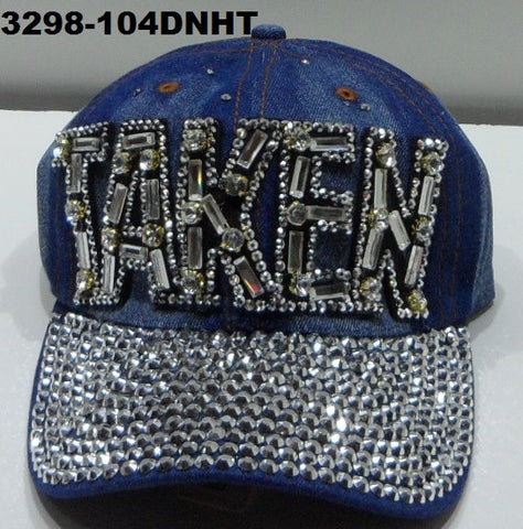 3298-104DNHT DENIM TAKEN BLING HAT