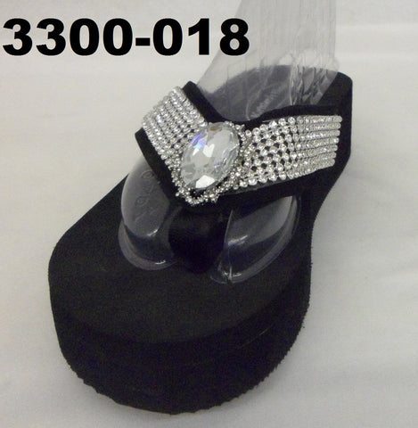 3300-018 BIG STONE BLING SANDALS